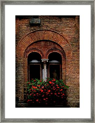 Sienna Window Framed Print