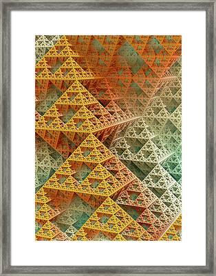 Sierpinski Triangles Framed Print by David Parker