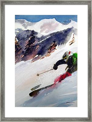Framed Print featuring the painting Sierra At Tahoe by Ed  Heaton