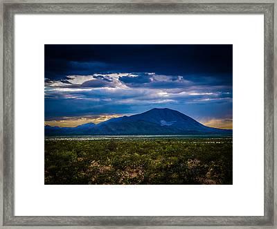Sierra Blanca Framed Print
