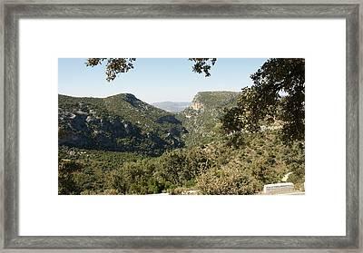 Framed Print featuring the photograph Sierra De Grazalema by Christian Zesewitz