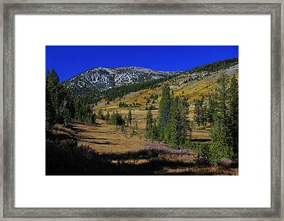 Framed Print featuring the photograph Sierra Fall  by Sean Sarsfield