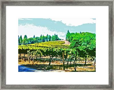 Sierra Foothills Vineyard Framed Print by Charlette Miller