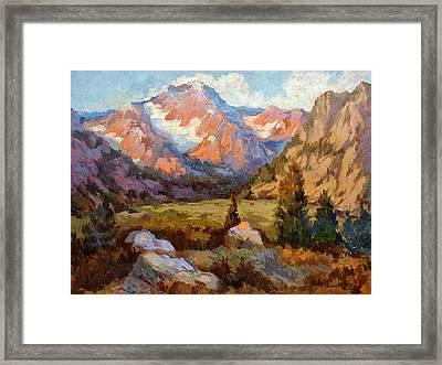 Sierra Nevada Mountains Framed Print