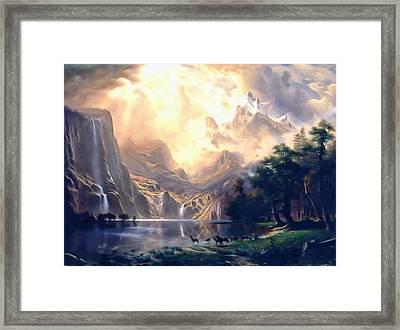 Sierra Nevada Ode To Bierstadt Dedication Framed Print by Georgiana Romanovna