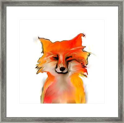 Sierra Nevada Red Fox Framed Print by Mel Gross