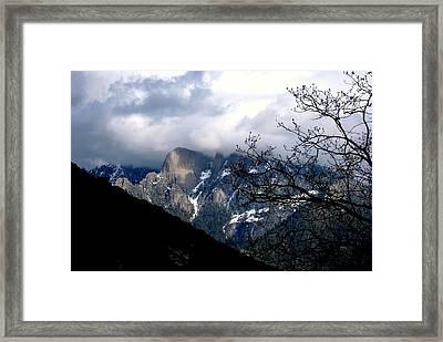 Sierra Nevada Snowy View Framed Print by Matt Harang