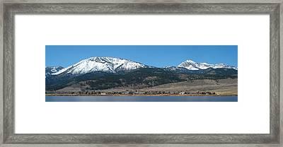 Sierra Nevada Village Framed Print by Janette Dean