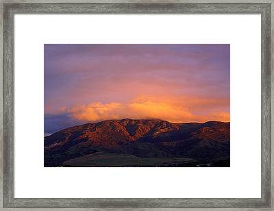 Sierra Peak Framed Print