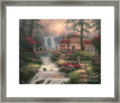 Sierra River Falls Framed Print
