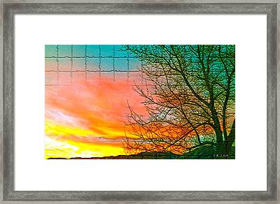 Sierra Sunset Cubed Framed Print