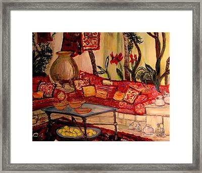 Sierra's Garden Room Framed Print by Helena Bebirian