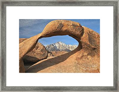 Sierras Under Mobius Framed Print