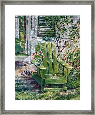 Framed Print featuring the painting Siesta by Joy Nichols