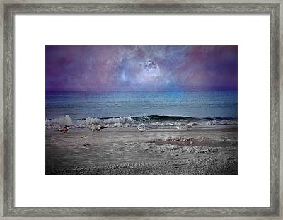 Siesta Key Moon In My Pocket Framed Print