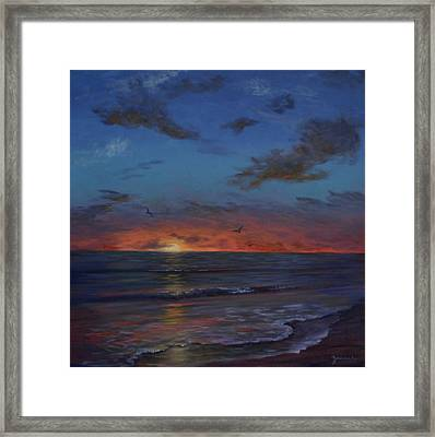 Siesta Key Sunset Framed Print