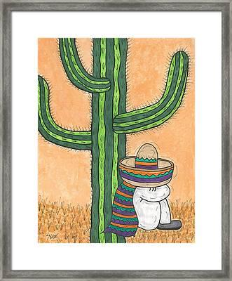 Siesta Saguaro Cactus Time Framed Print