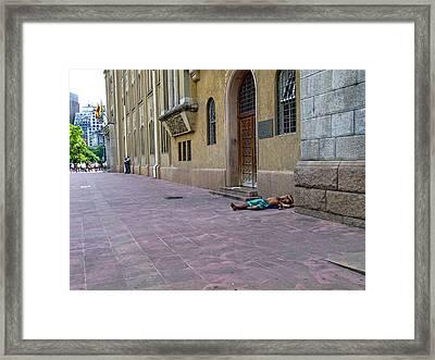Siesta - Sao Paulo Framed Print by Julie Niemela