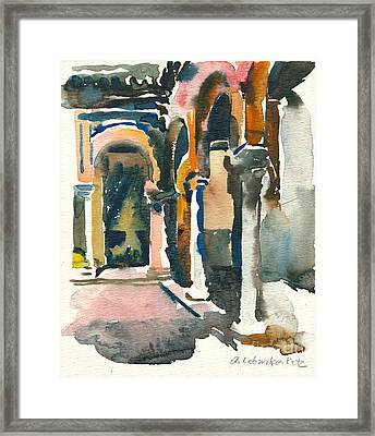 Siesta Time In Sevilla Framed Print by Anna Lobovikov-Katz