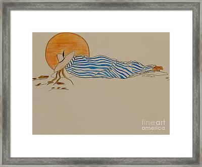 Siesta Under The Sun Framed Print by Caroline Street