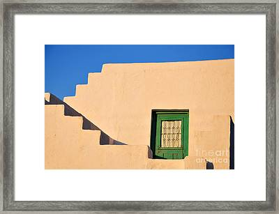 Apollonia Town In Sifnos Island Framed Print by George Atsametakis