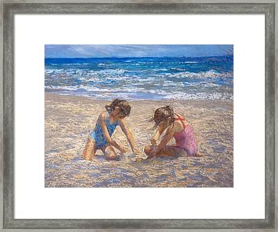 Sifting Sand Framed Print by Jackie Simmonds
