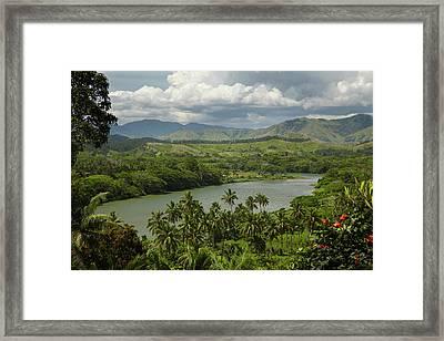 Sigatoka River, Lower Sigatoka Valley Framed Print