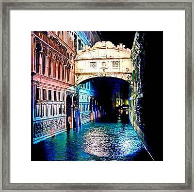 Sigh In Venice Framed Print by Georgiana Romanovna
