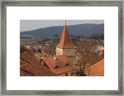 Sighisoara From The Rooftop  Framed Print