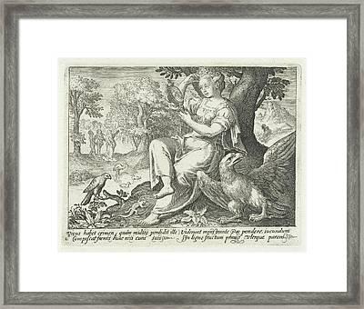 Sight, Nicolaes De Bruyn Framed Print by Nicolaes De Bruyn