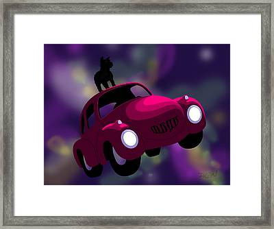 Framed Print featuring the digital art Mister Big And His Dog by Tom Dickson
