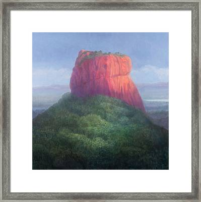 Sigiriya I, Sri Lanka, 2012 Acrylic On Canvas Framed Print by Lincoln Seligman