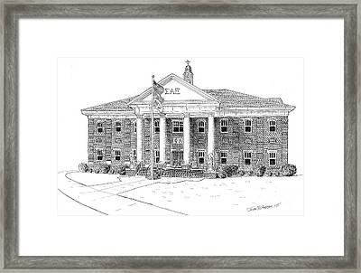 Sigma Alpha Epsilon House Framed Print by John Hopson