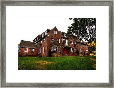 Sigma Phi Epsilon Fraternity On The Wsu Campus Framed Print by David Patterson