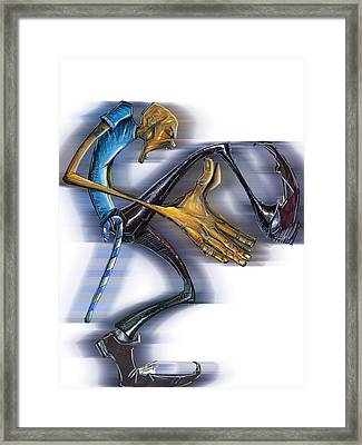 Sigma Steps Framed Print by Tu-Kwon Thomas