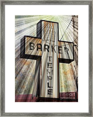 Sign - Barker Temple - Kcmo Framed Print by Liane Wright