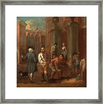 Sign For A Paviour, William Hogarth, 1697-1764 Framed Print by Litz Collection
