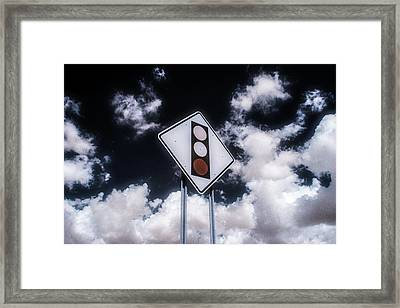Sign In The Clouds Framed Print