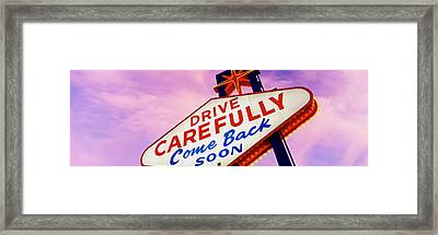 Sign, Las Vegas Nevada, Usa Framed Print by Panoramic Images