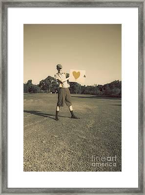 Sign Of An Antique Golfer Framed Print by Jorgo Photography - Wall Art Gallery