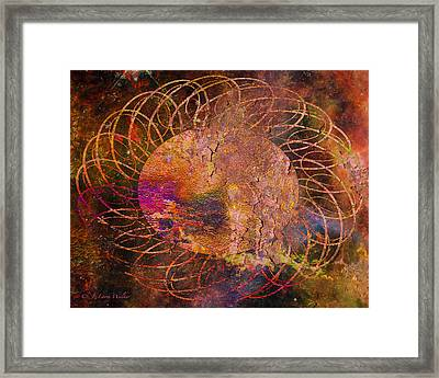 Framed Print featuring the digital art Sign Of The Times - Abstract by J Larry Walker