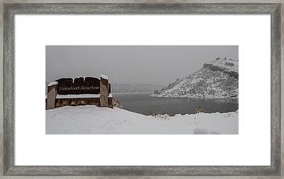 Sign Of The Times Framed Print by Harry Strharsky