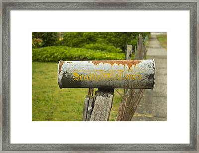 Sign Of The Times Seattle Times Framed Print by Cathy Anderson