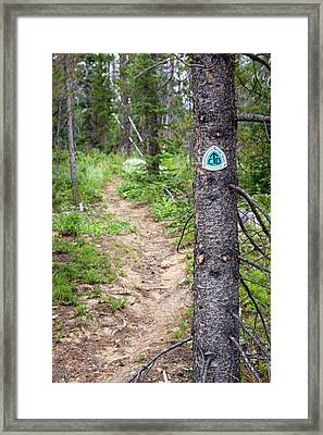 Sign On Continental Divide Trail Framed Print by Jim West