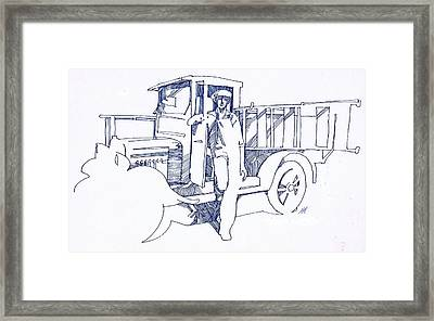 Sign Painter Framed Print by Dale Michels