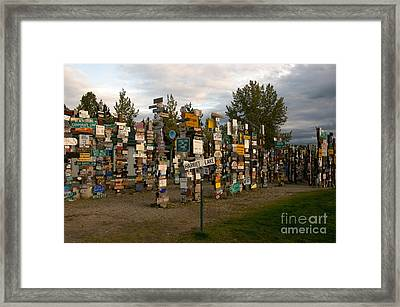 Sign Post Forest Framed Print by Mark Newman