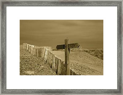 Sign Post To Nowhere 2 Framed Print by Christopher Rowlands