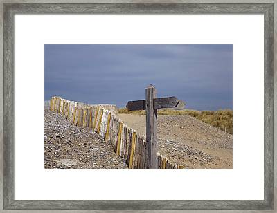 Sign Post To Nowhere Framed Print by Christopher Rowlands