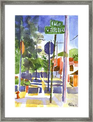 Sign Posts Framed Print by Kip DeVore
