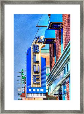 Sign - The Blue Room - Jazz District Framed Print by Liane Wright